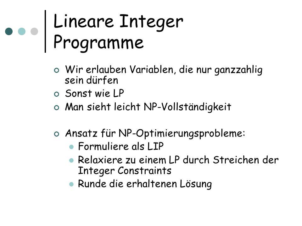 Lineare Integer Programme