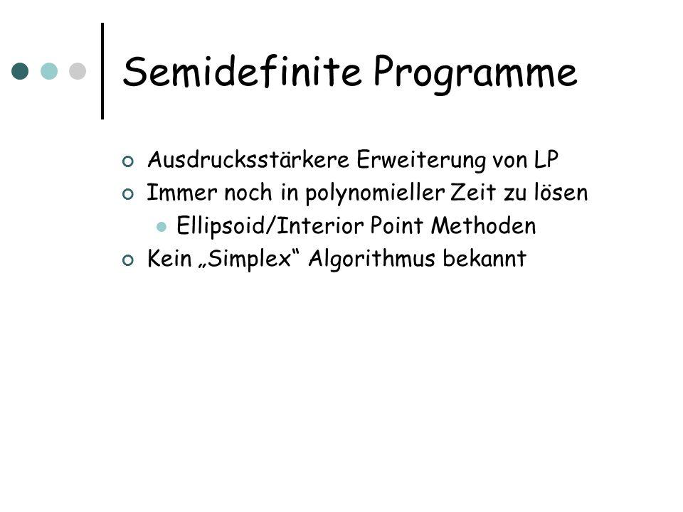 Semidefinite Programme