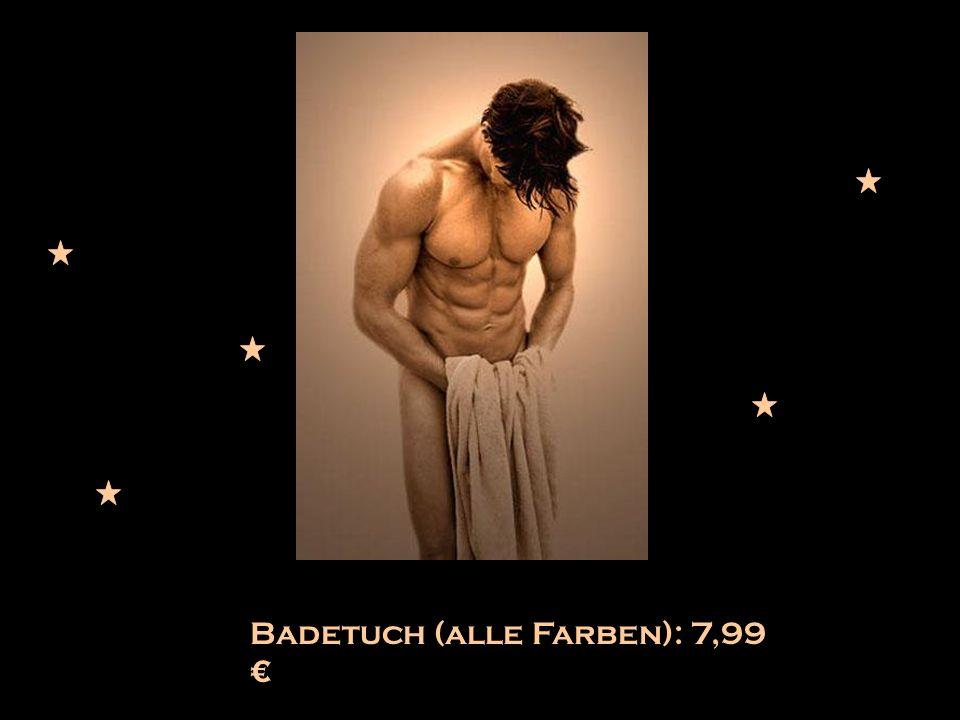 Badetuch (alle Farben): 7,99 €