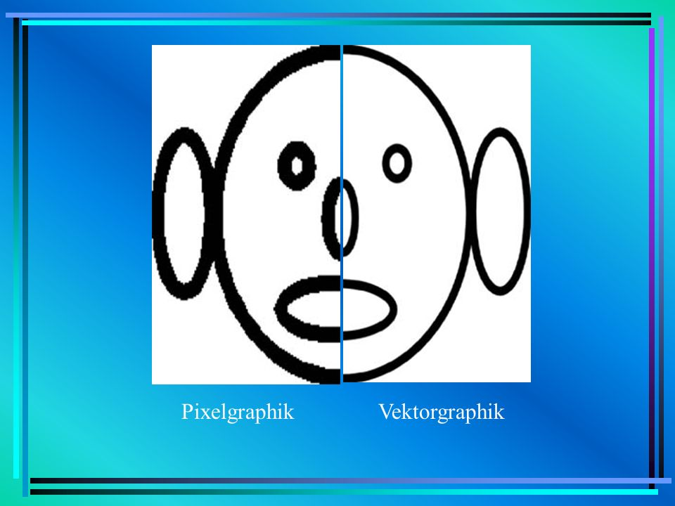 Pixelgraphik Vektorgraphik