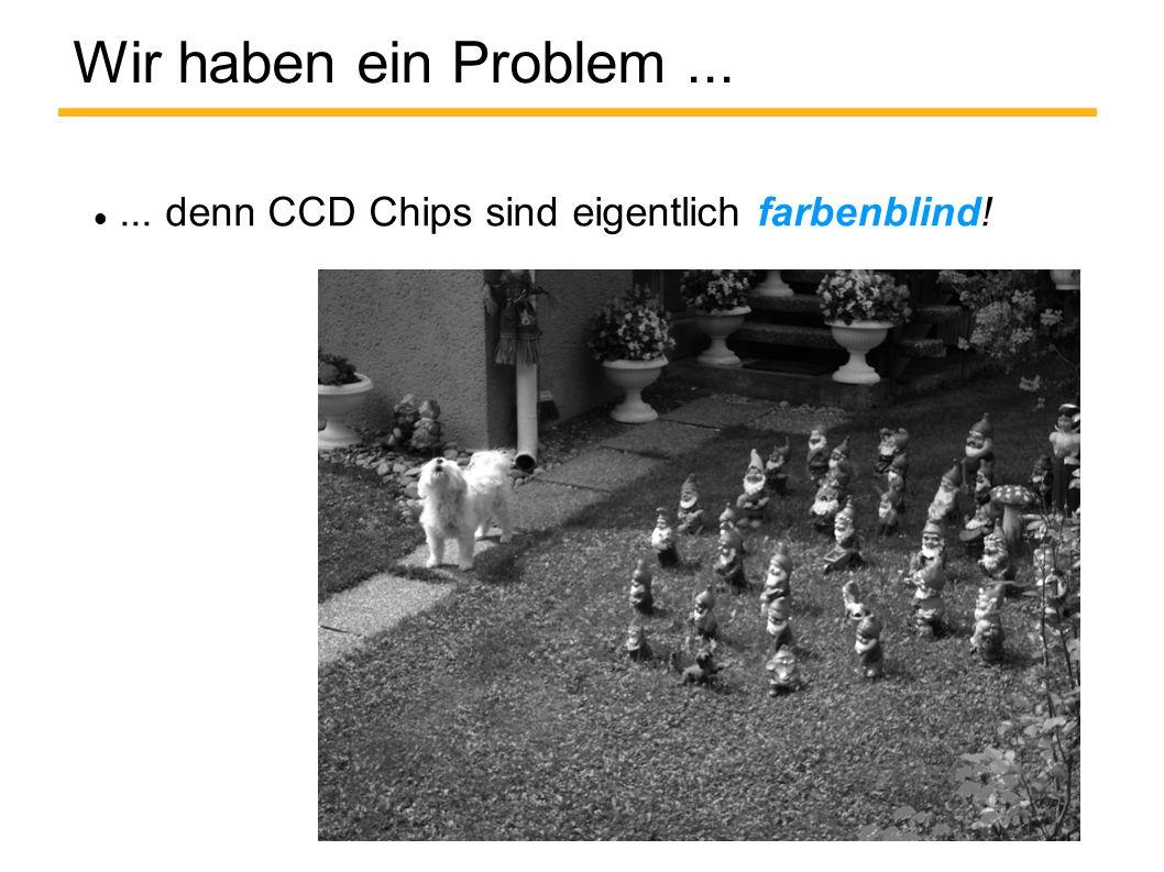 Wir haben ein Problem ... ... denn CCD Chips sind eigentlich farbenblind!