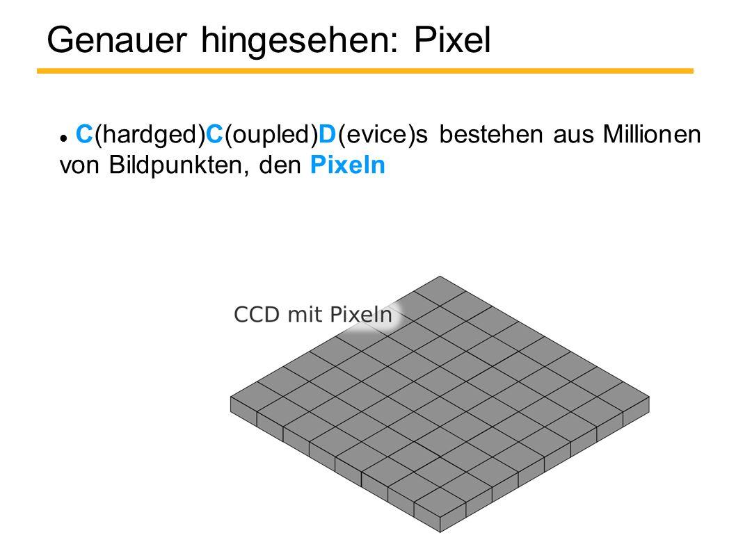 Genauer hingesehen: Pixel