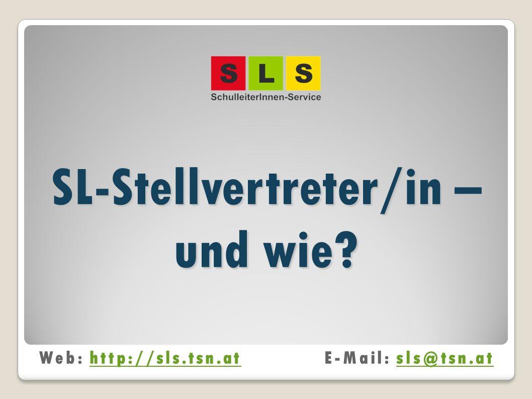 SL-Stellvertreter/in – und wie