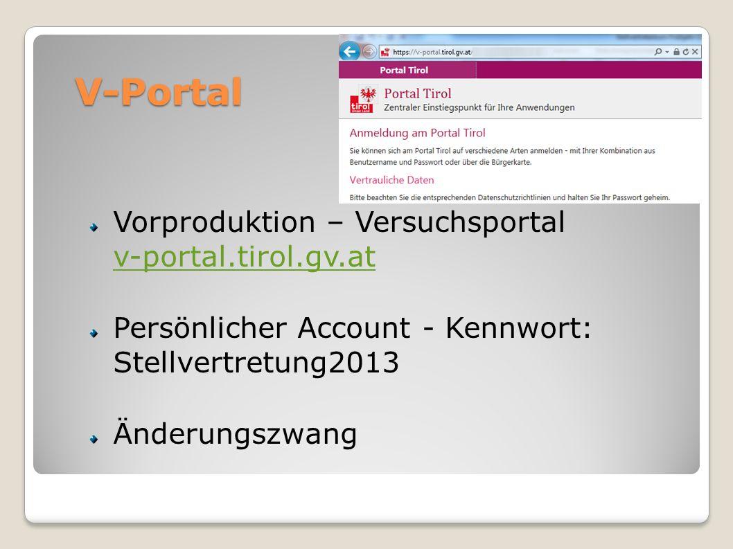 V-Portal Vorproduktion – Versuchsportal v-portal.tirol.gv.at