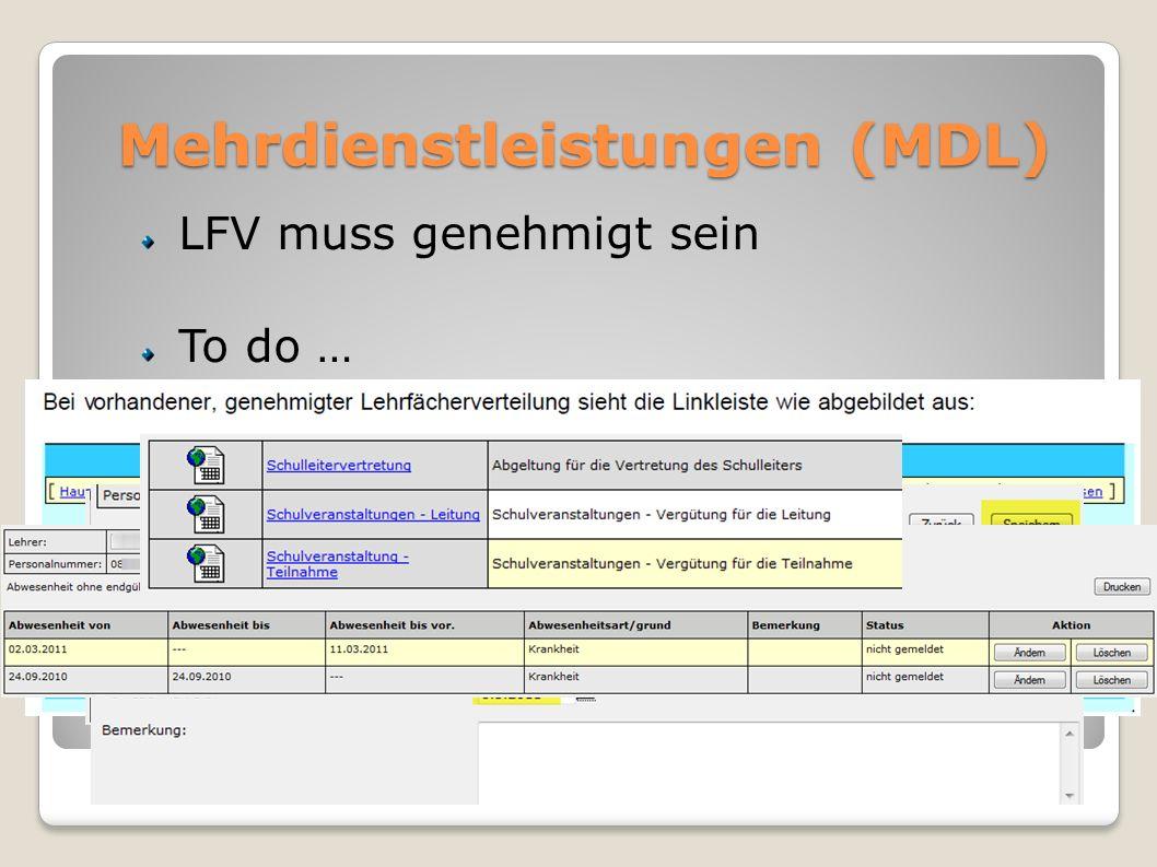 Mehrdienstleistungen (MDL)