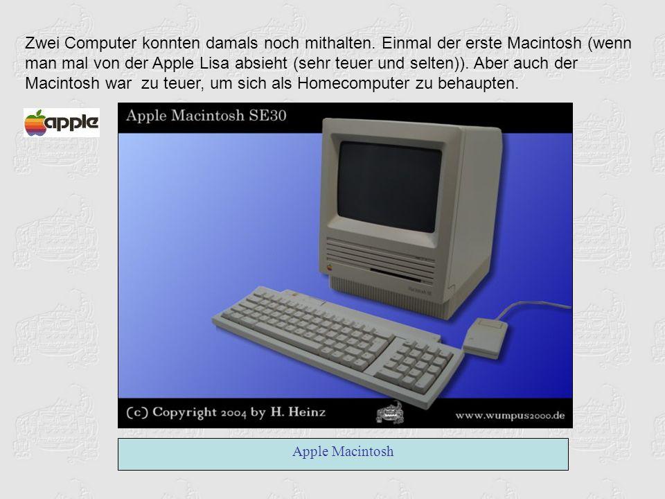 Zwei Computer konnten damals noch mithalten