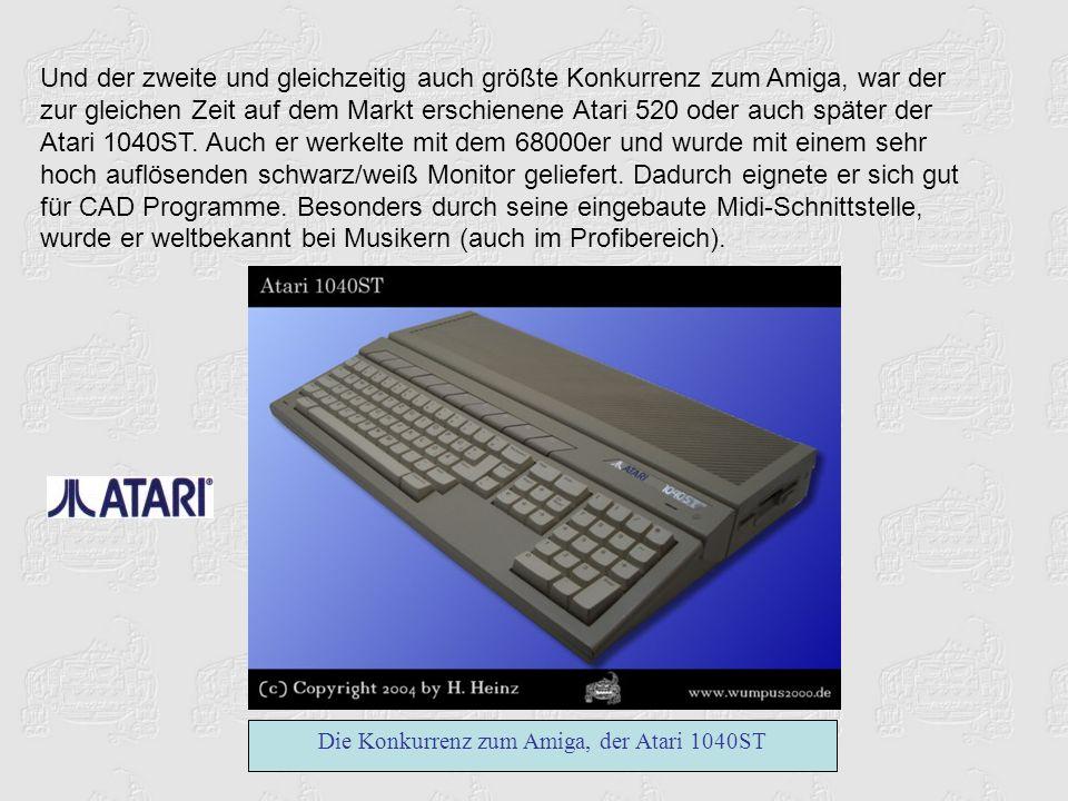 Die Konkurrenz zum Amiga, der Atari 1040ST