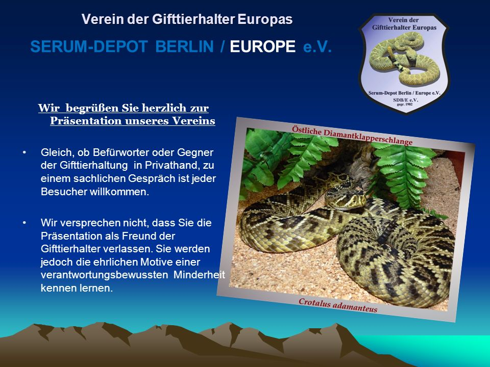 Verein der Gifttierhalter Europas