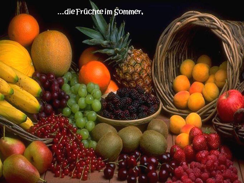 …die Früchte im Sommer,
