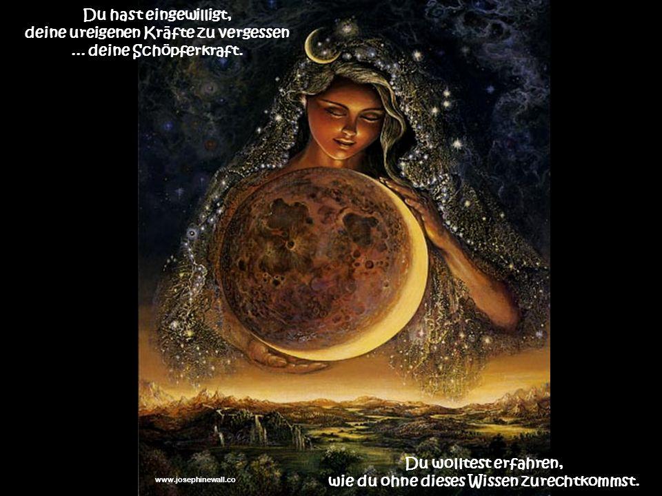 deine ureigenen Kräfte zu vergessen ... deine Schöpferkraft.