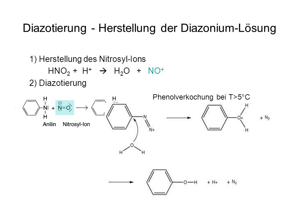 Diazotierung - Herstellung der Diazonium-Lösung