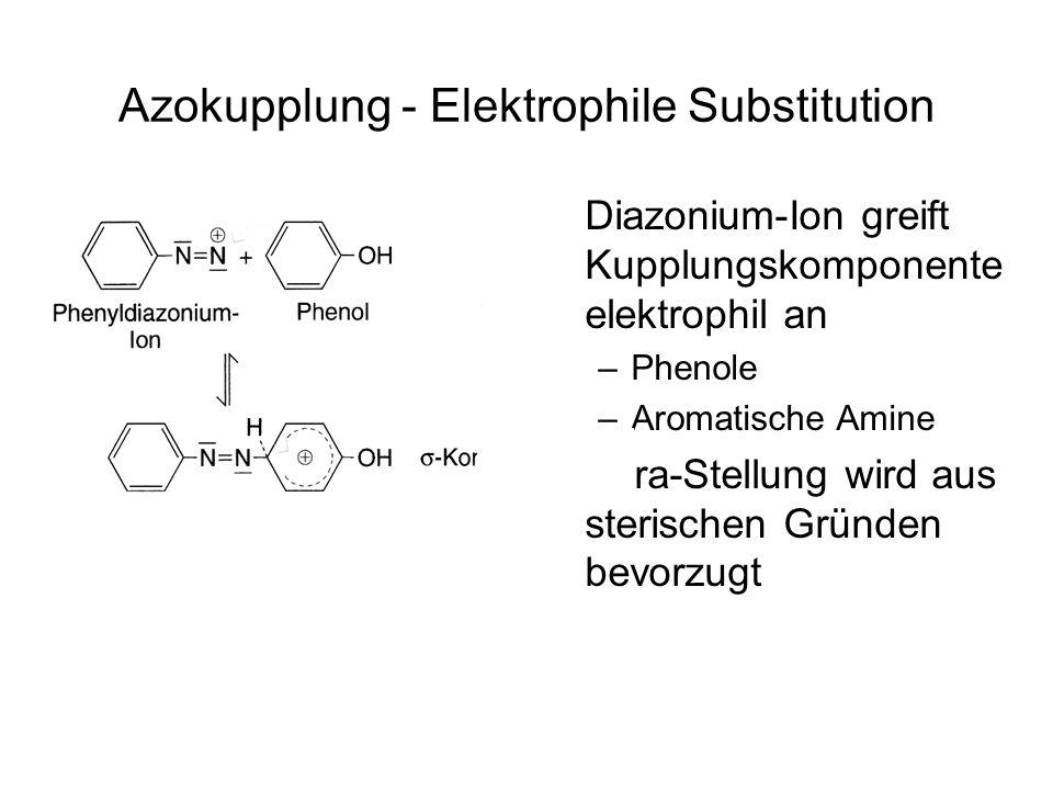 Azokupplung - Elektrophile Substitution