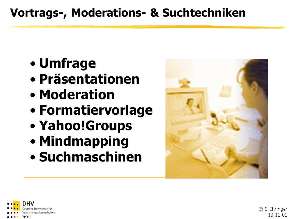 Umfrage Präsentationen Moderation Formatiervorlage Yahoo!Groups