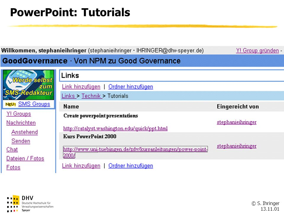 PowerPoint: Tutorials