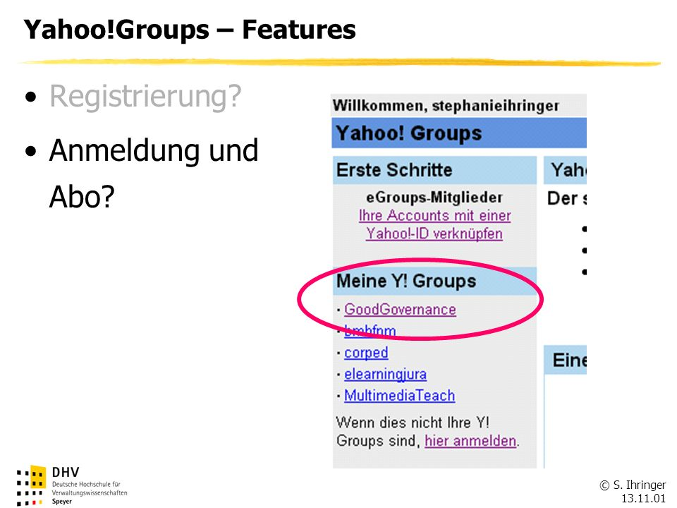 Yahoo!Groups – Features