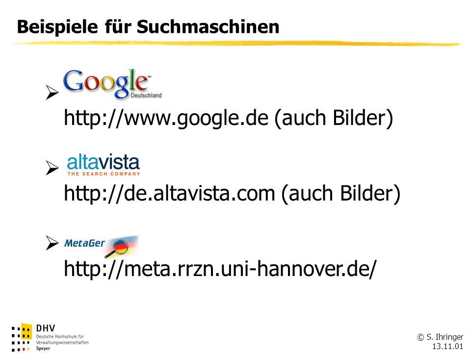 http://www.google.de (auch Bilder)