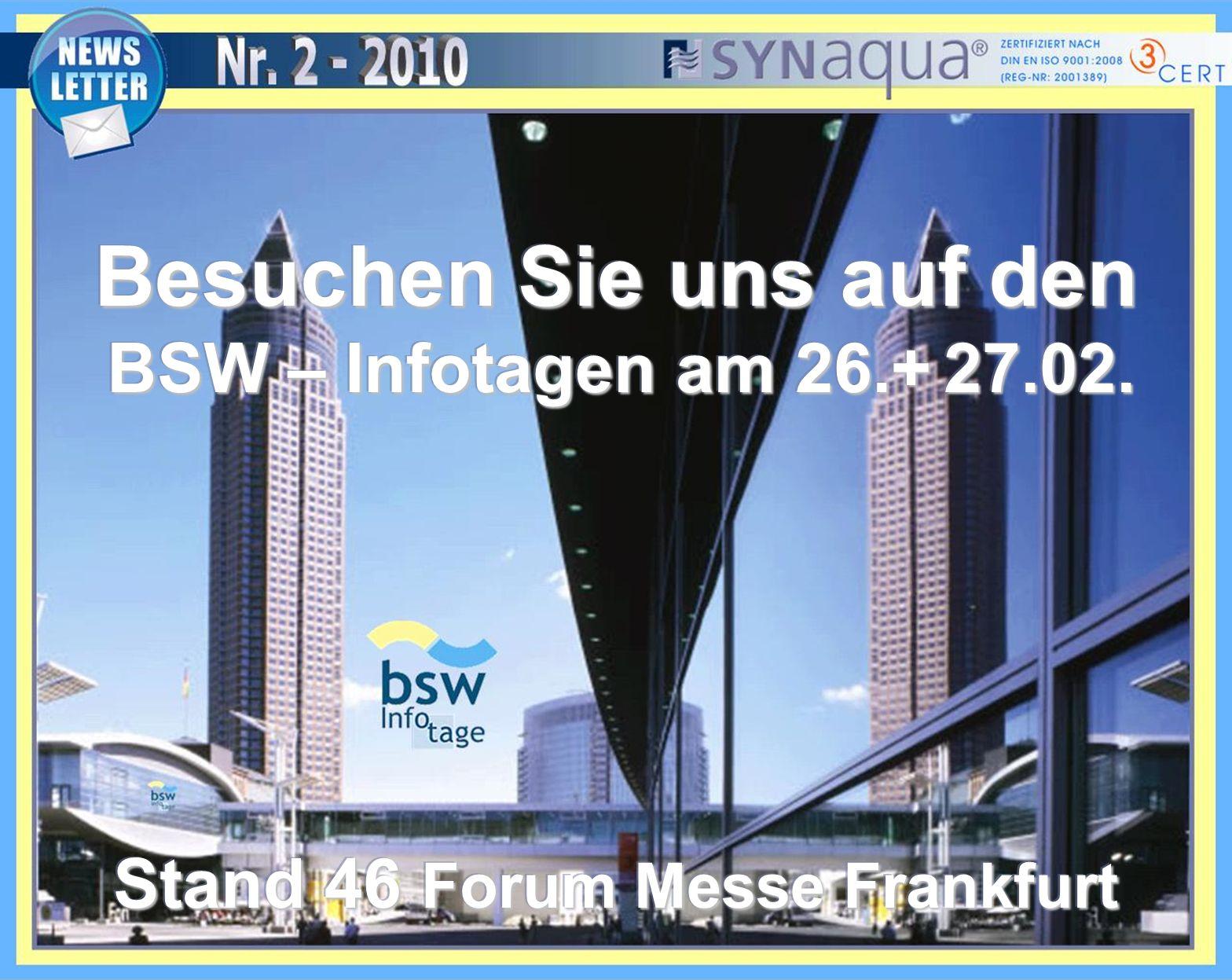Besuchen Sie uns auf den BSW – Infotagen am 26.+ 27.02.