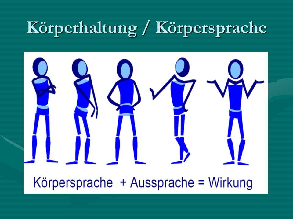 Körperhaltung / Körpersprache