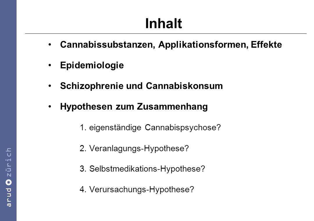 Inhalt Cannabissubstanzen, Applikationsformen, Effekte Epidemiologie