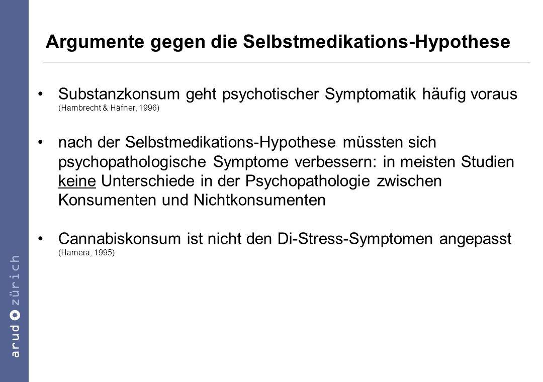 Argumente gegen die Selbstmedikations-Hypothese