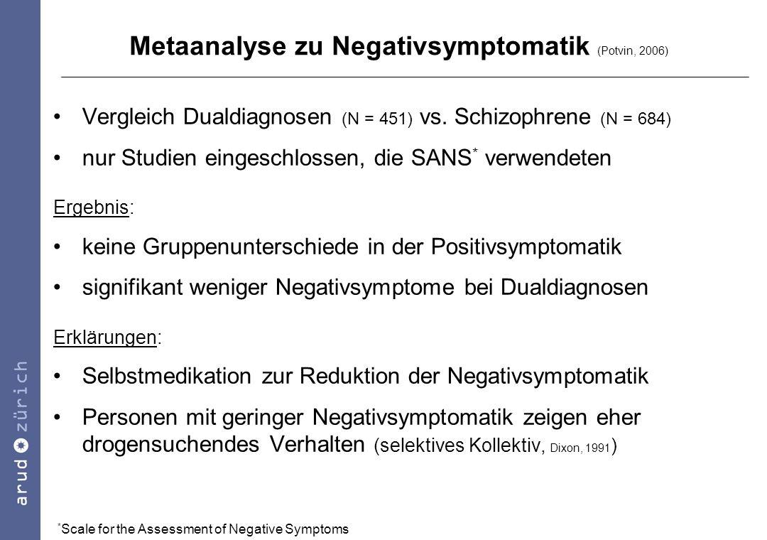 Metaanalyse zu Negativsymptomatik (Potvin, 2006)