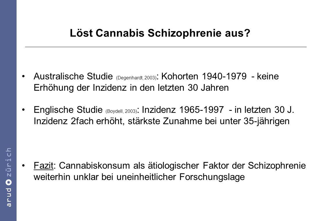 Löst Cannabis Schizophrenie aus