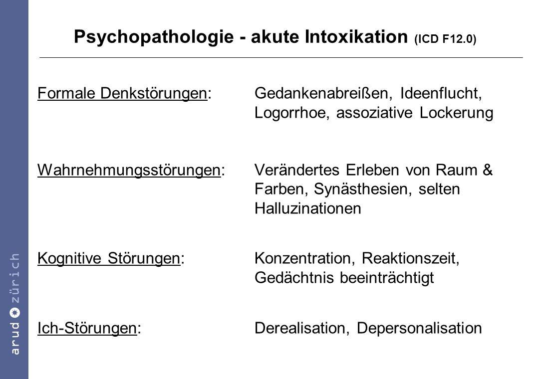 Psychopathologie - akute Intoxikation (ICD F12.0)
