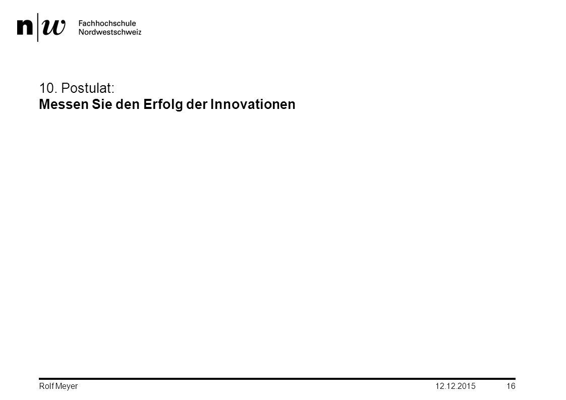 10. Postulat: Messen Sie den Erfolg der Innovationen