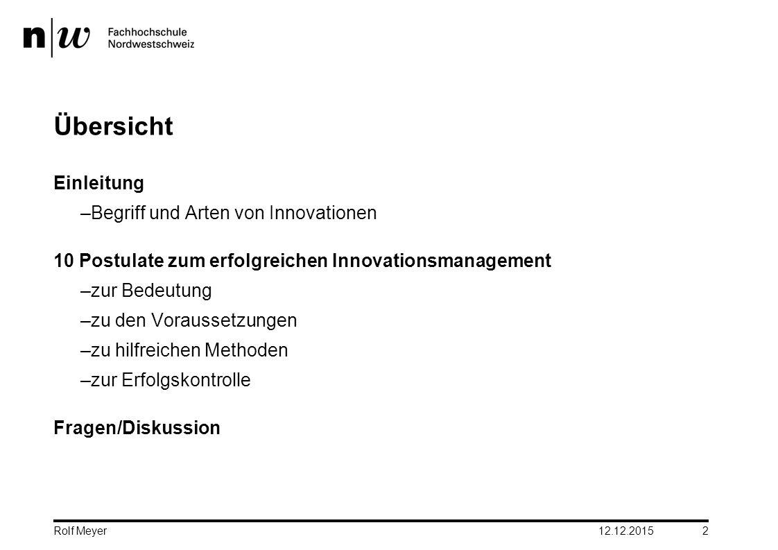 Übersicht Einleitung Begriff und Arten von Innovationen