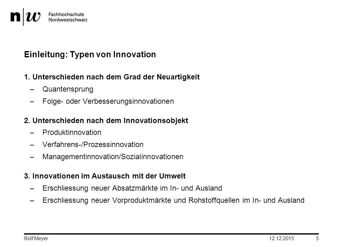 Einleitung: Typen von Innovation