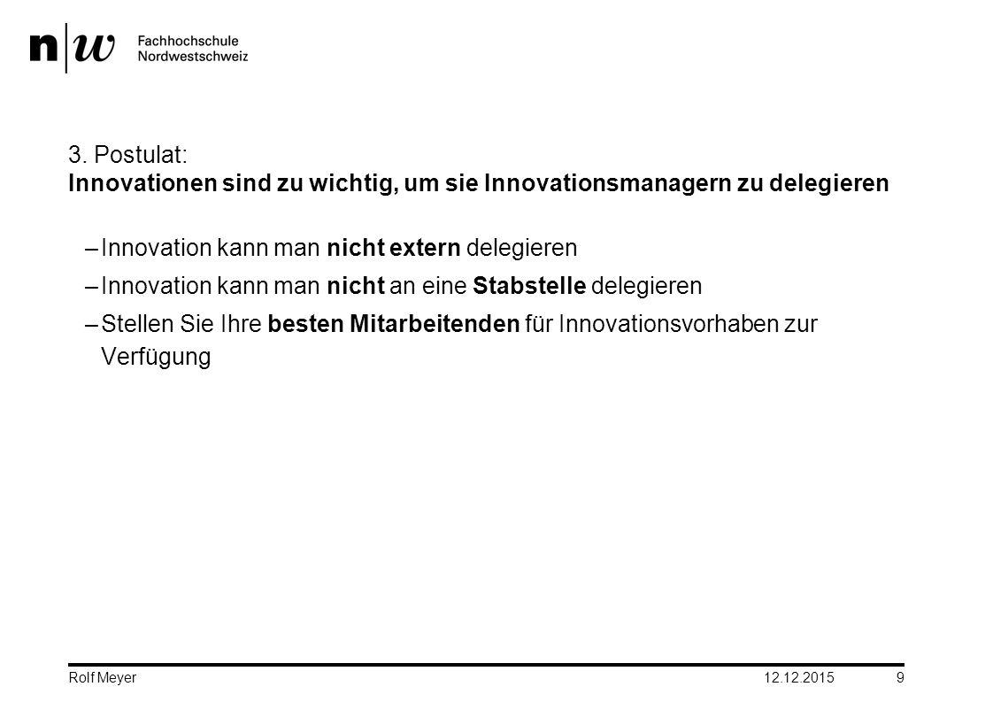 Innovation kann man nicht extern delegieren