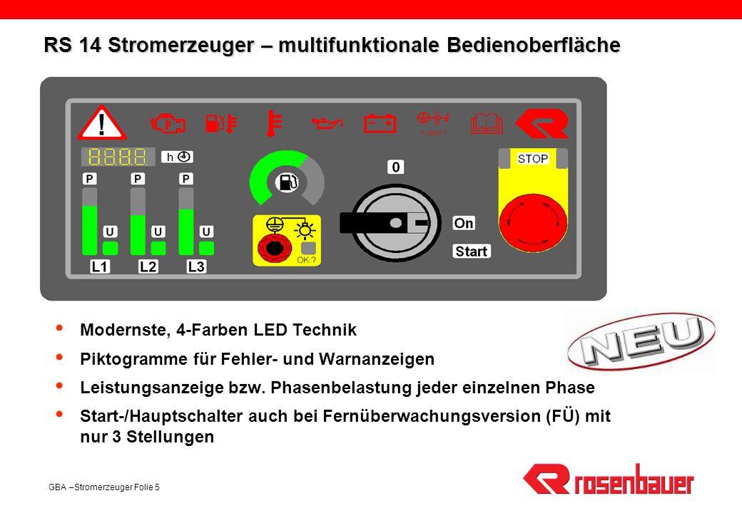 RS 14 Stromerzeuger – multifunktionale Bedienoberfläche