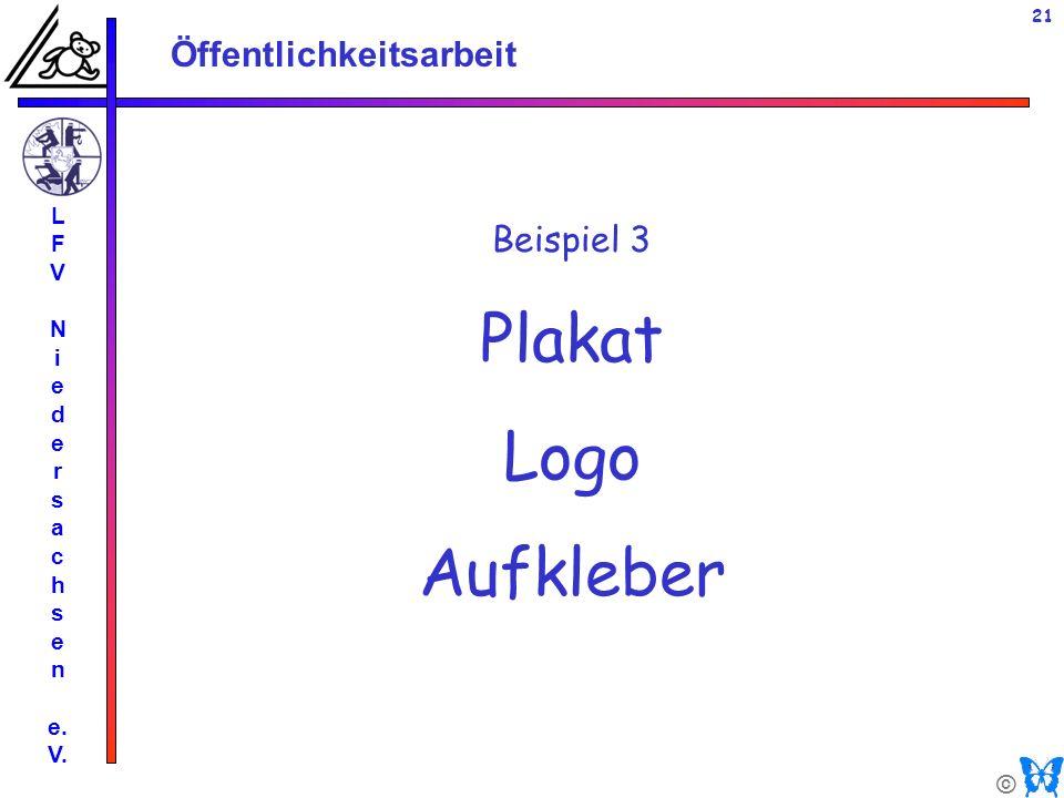 L F V N i e d r s a c h n e. V. Beispiel 3 Plakat Logo Aufkleber