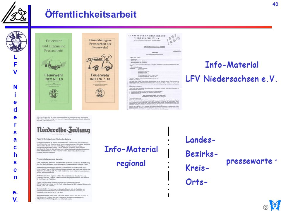 Info-Material LFV Niedersachsen e.V. Info-Material regional