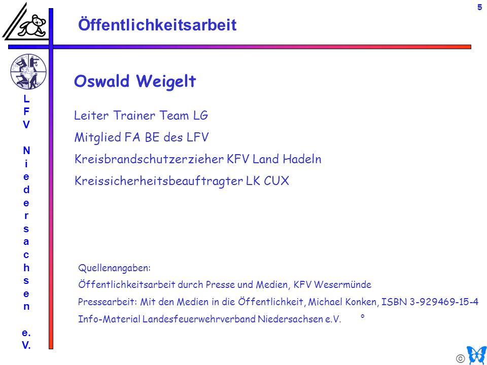 Oswald Weigelt Leiter Trainer Team LG Mitglied FA BE des LFV