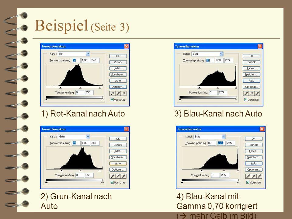 Beispiel (Seite 3) 1) Rot-Kanal nach Auto 3) Blau-Kanal nach Auto