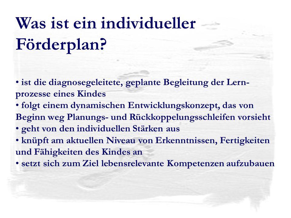 Was ist ein individueller Förderplan