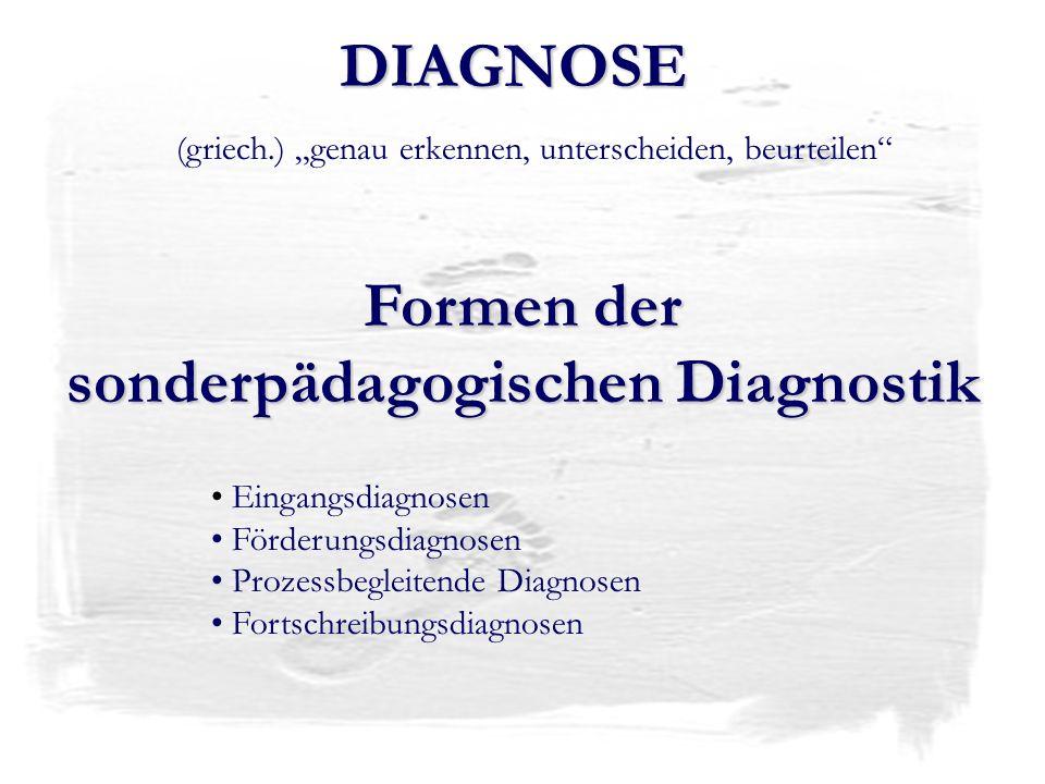 sonderpädagogischen Diagnostik