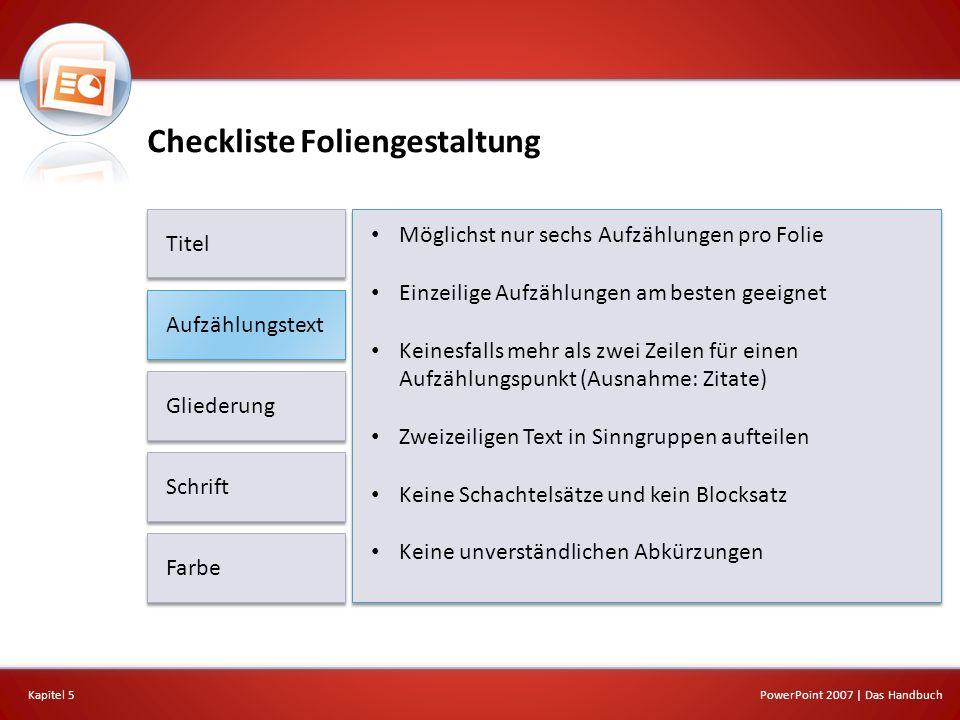 Checkliste Foliengestaltung