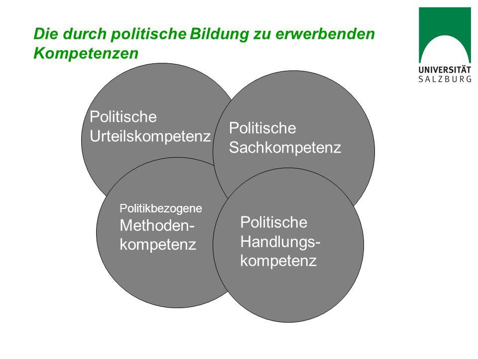 Die durch politische Bildung zu erwerbenden Kompetenzen