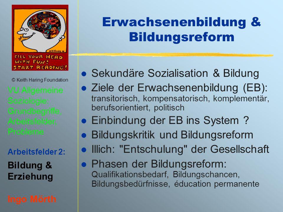 Erwachsenenbildung & Bildungsreform