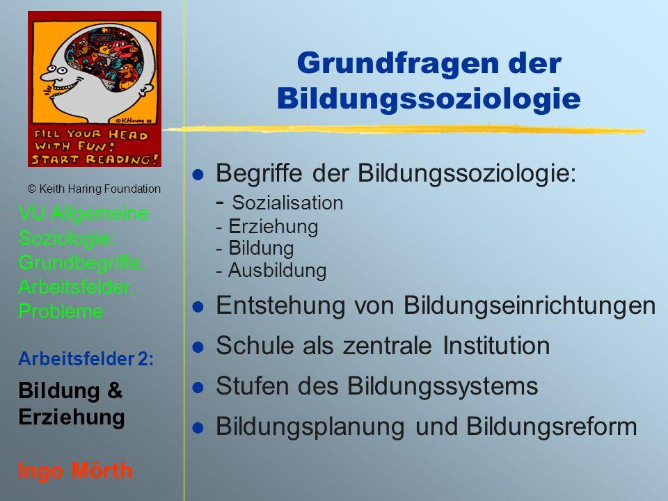 Grundfragen der Bildungssoziologie