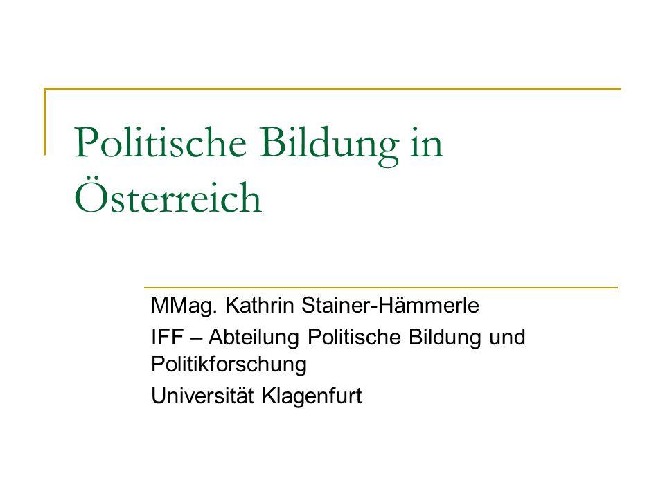 Politische Bildung in Österreich