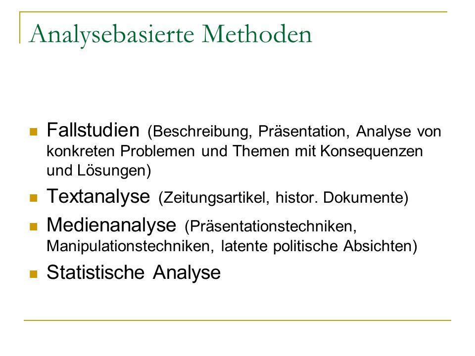 Analysebasierte Methoden
