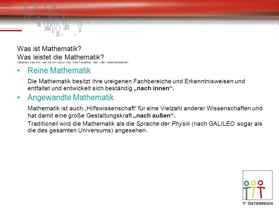 Was ist Mathematik. Was leistet die Mathematik