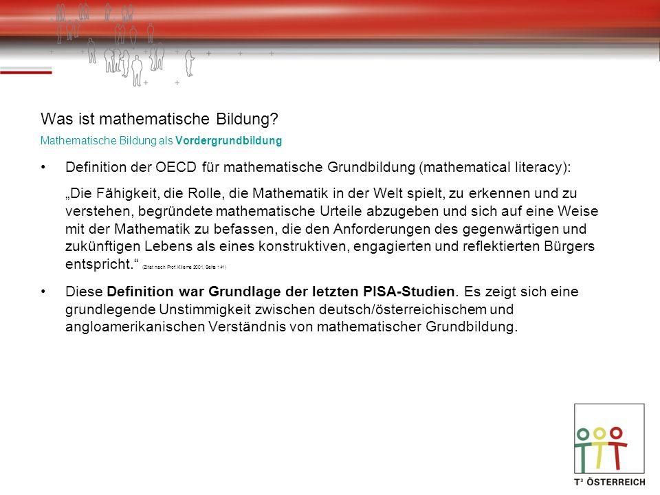 Was ist mathematische Bildung