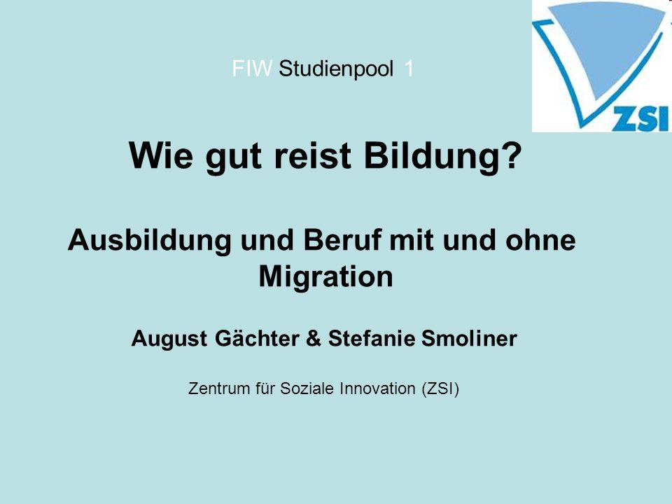 Ausbildung und Beruf mit und ohne August Gächter & Stefanie Smoliner