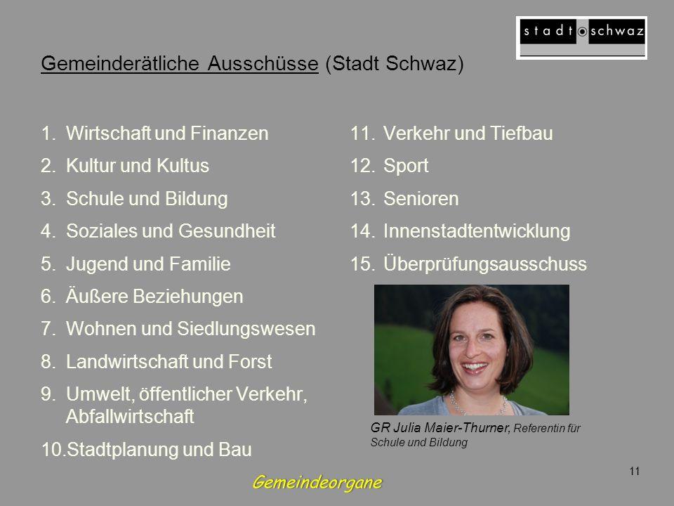Gemeinderätliche Ausschüsse (Stadt Schwaz)