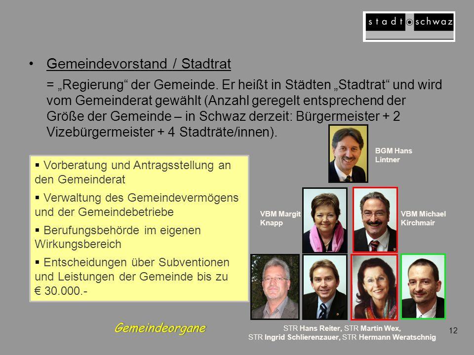 Gemeindevorstand / Stadtrat