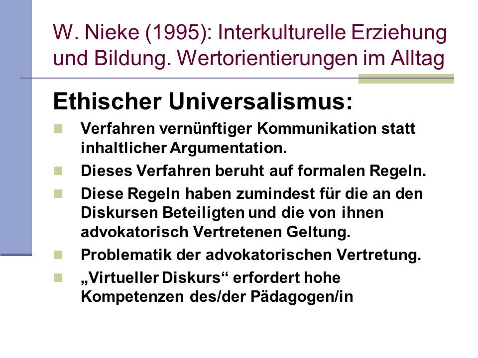 Ethischer Universalismus: